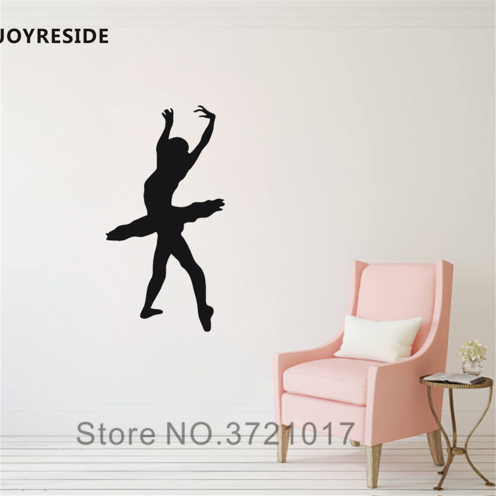 Wall Stickers Wall Stickers For Kids Bedroom Dancing Ballet Girls Home Decor Art Removable Vinyl Art Self Adhesive Wall Sticker Decal La019