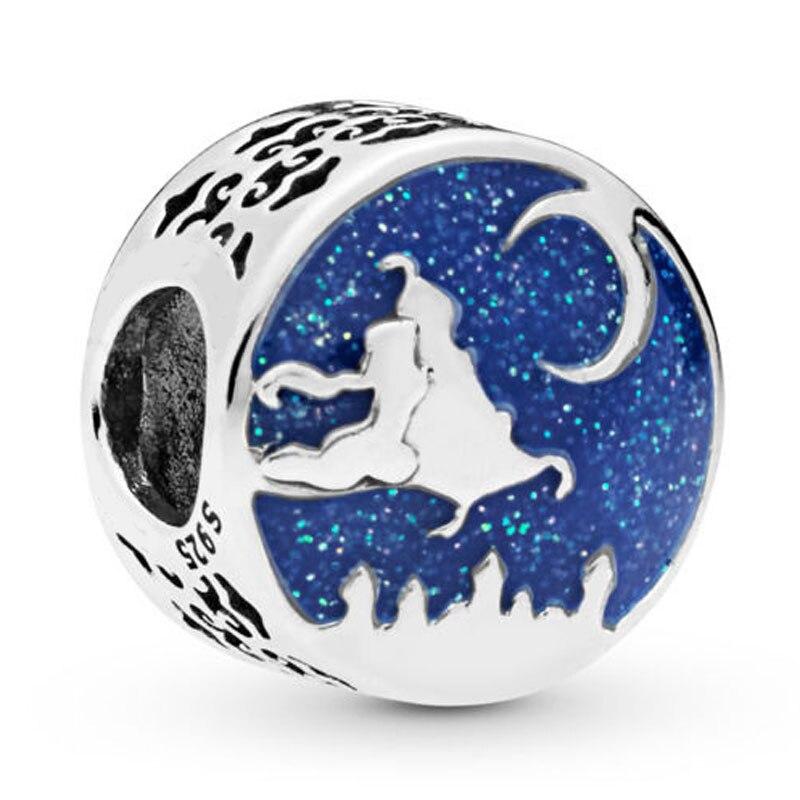 Onverdroten Nieuwe 925 Sterling Silver Bead Charm Blue Enamel Aladdin Magic Tapijt Rit Charm Fit Pandora Armband Diy Sieraden Gemakkelijk Te Smeren