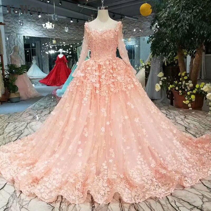 Aline Wedding Gown: Pink Aline Bride Dress Lace Elegant Wedding Dress Formal