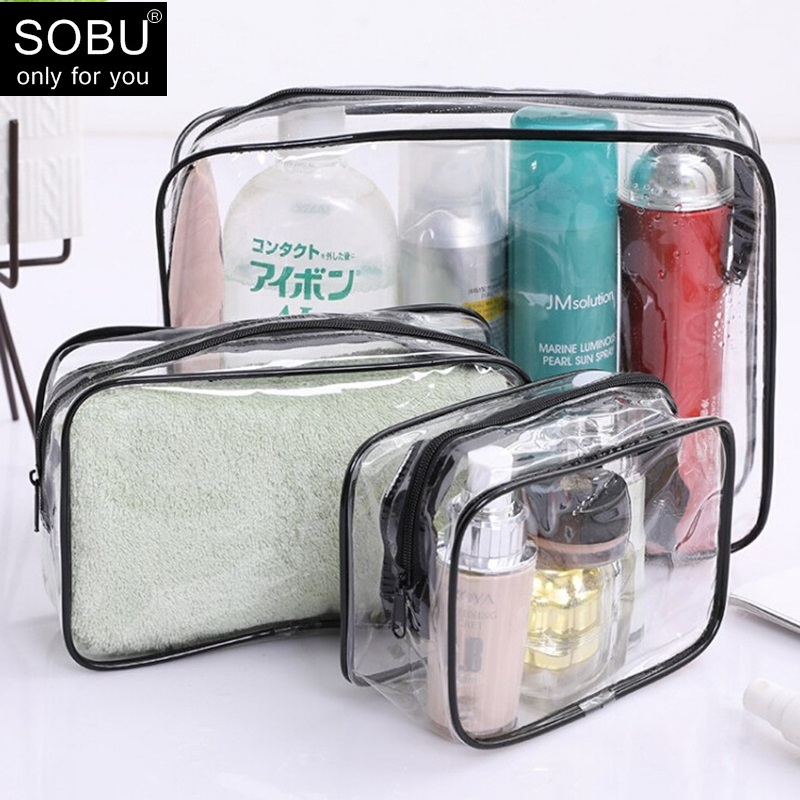 Colourful Portable Zipper Bag PVC Transparent Cosmetic Bag Toiletry Wash Make Up Bag Pouch Travel Necessarie Organizer Bag H134