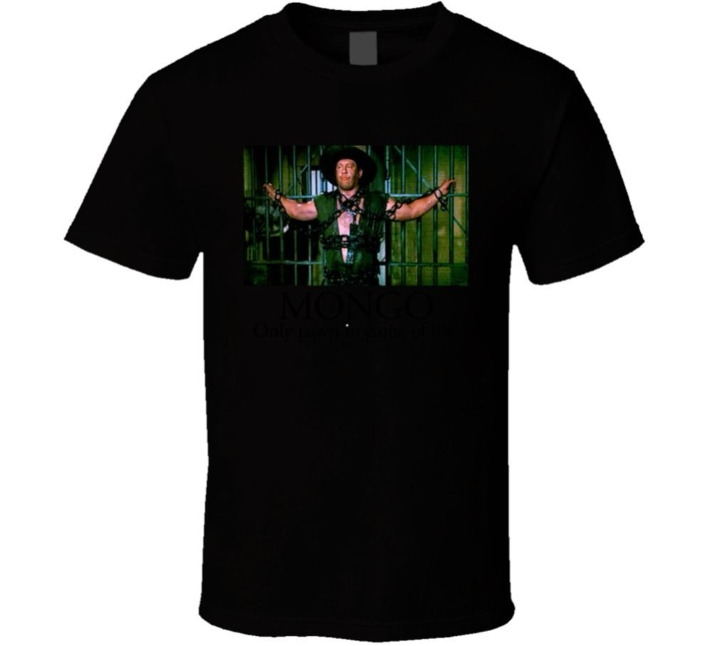 Cotton Shirts Mongo Only Pawn In Game Of Life Alex Karras Blazing Saddles T Shirt Funny Crew Neck Short-Sleeve T Shirt