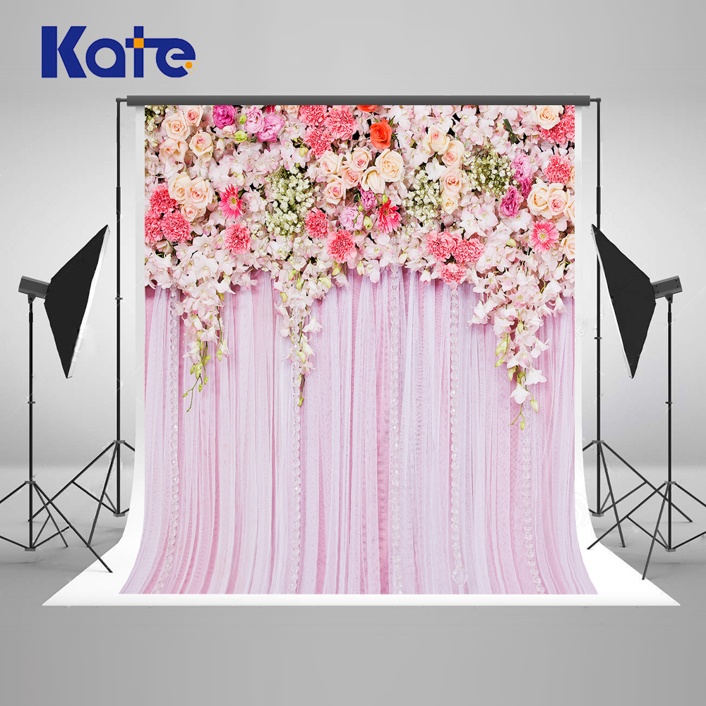 KATE Photo Background Wedding Backdrop 10FT Pink Photography Backdrops Floral Backdrop for Fundo Fotografico Para Estudio photography backdrop brick roof 5x7 newborn rainbow flags on top custom background backdrops fundo fotografico para estudio