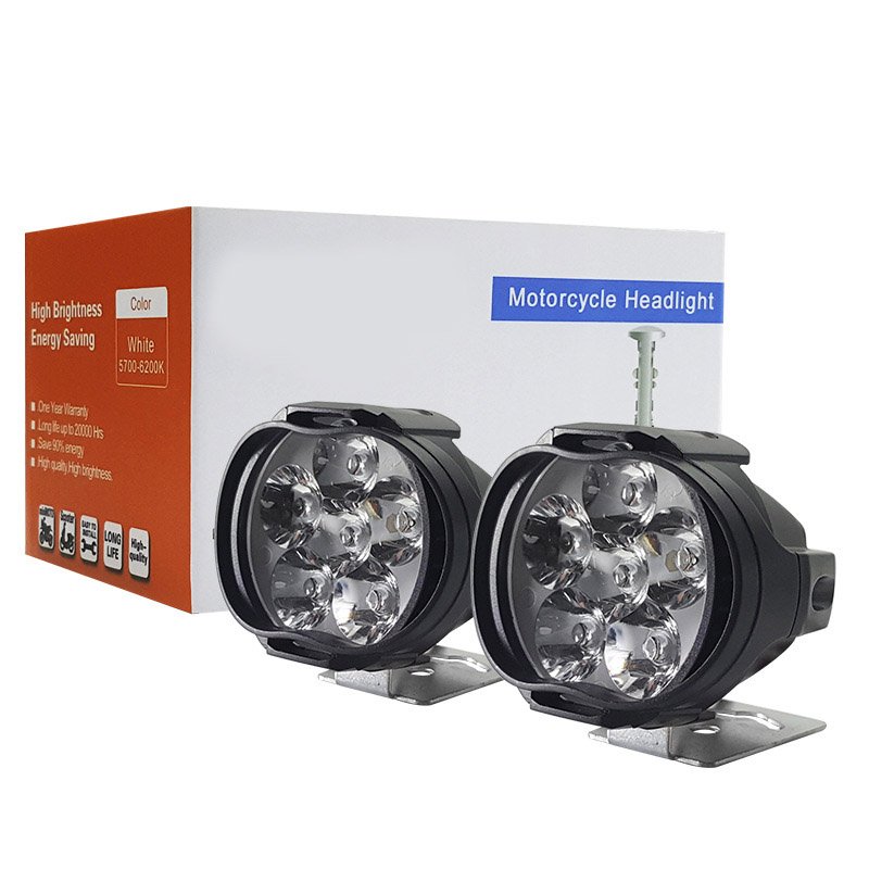 2pc Led Work Light 8W 1500LM Moto Motorcycles 9 Led Headlight Lamp Scooters Fog Light Working Spotlight 6000K