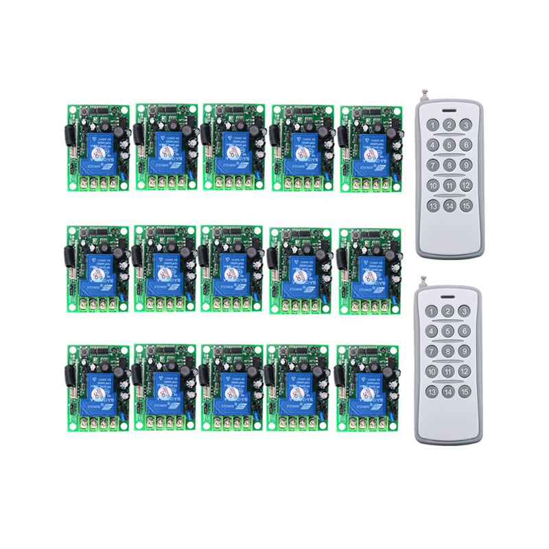 30A 1CH Wireless Remote Control Switch AC 220V 110V 85 265V Relay Output Radio RF Transmitter And 315/433 MHz Receiver