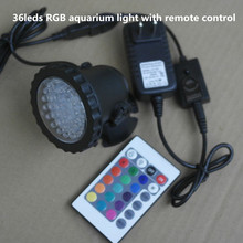 36leds RGB Waterproof IP68 fountain pool Lamp 3.5W Aquarium Fish tank Light for Swimming Pool Pond Light with remote control(China)