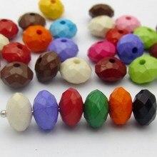 400 Смешанная Bubblegum Цвет акриловые Rondelle Бусины 6x10 мм
