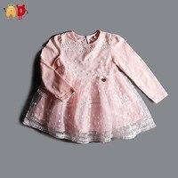 AD 2-7Y Elegant Chất Lượng Cô Gái Ăn Mặc Hoa Gạc Công Chúa Baby Girl Dress Trẻ Em Quần Áo và Phụ Kiện Dresses for Girls
