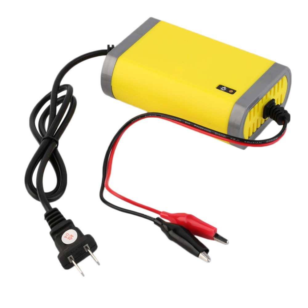1Piece Portable Car Battery Charger 12v 2A Fully-automatic Car Motorcycle Battery Charger Adaptor Power Supply US Plug
