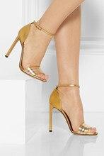Plus Größe Frauen Sandalen Schuhe Billig Modest Schnalle Neue kommen Günstige Modest High Heels Mode Open Größe braut