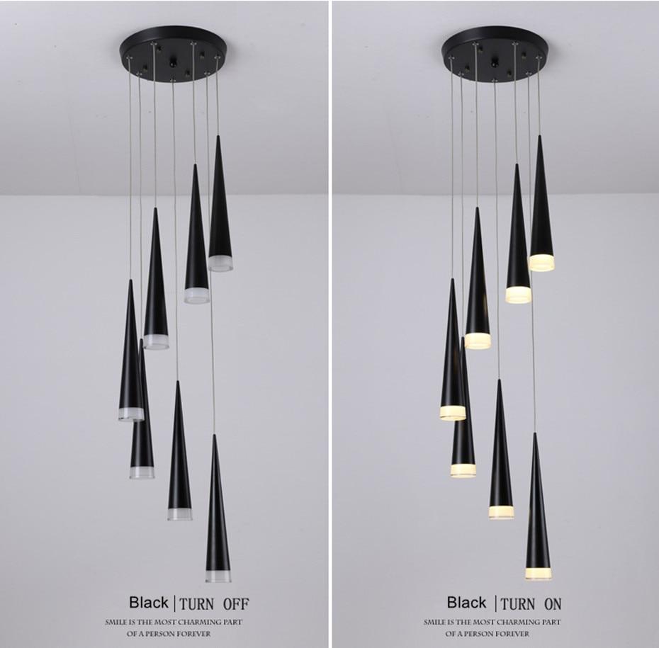 Novidade conduziu a lâmpada pingente luzes reguláveis
