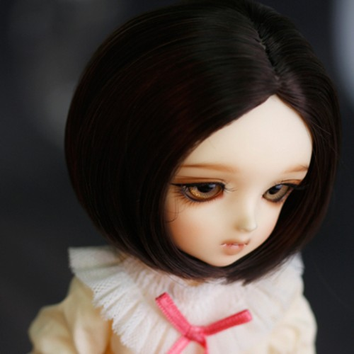 1/6 6-7 Bjd Wig Short Lovely Straight High Temperature Wire Bjd Wig MSD SD For BJD Doll Hair new 1 4 8 9 inch bjd wig short hair doll diy high temperature wire for 1 4 msd bjd sd dollfie