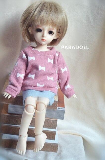 Симпатичные Повседневная Розовый Лук Футболка Для BJD Куклы 1/6 YOSD 1/4 MSD, 1/3 SD16 DD Снмп DOD AS DZ Куклы CWB24
