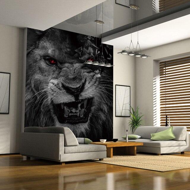 Benutzerdefinierte fototapete wohnzimmer schlafzimmer tier lion ...