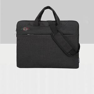 Image 5 - محمول شنطة لحمل macbook الهواء 13 حالة حقيبة لاب توب 15.6 دفتر حقيبة 14 15 بوصة حقيبة كتف لديل HP لينوفو Asus أيسر