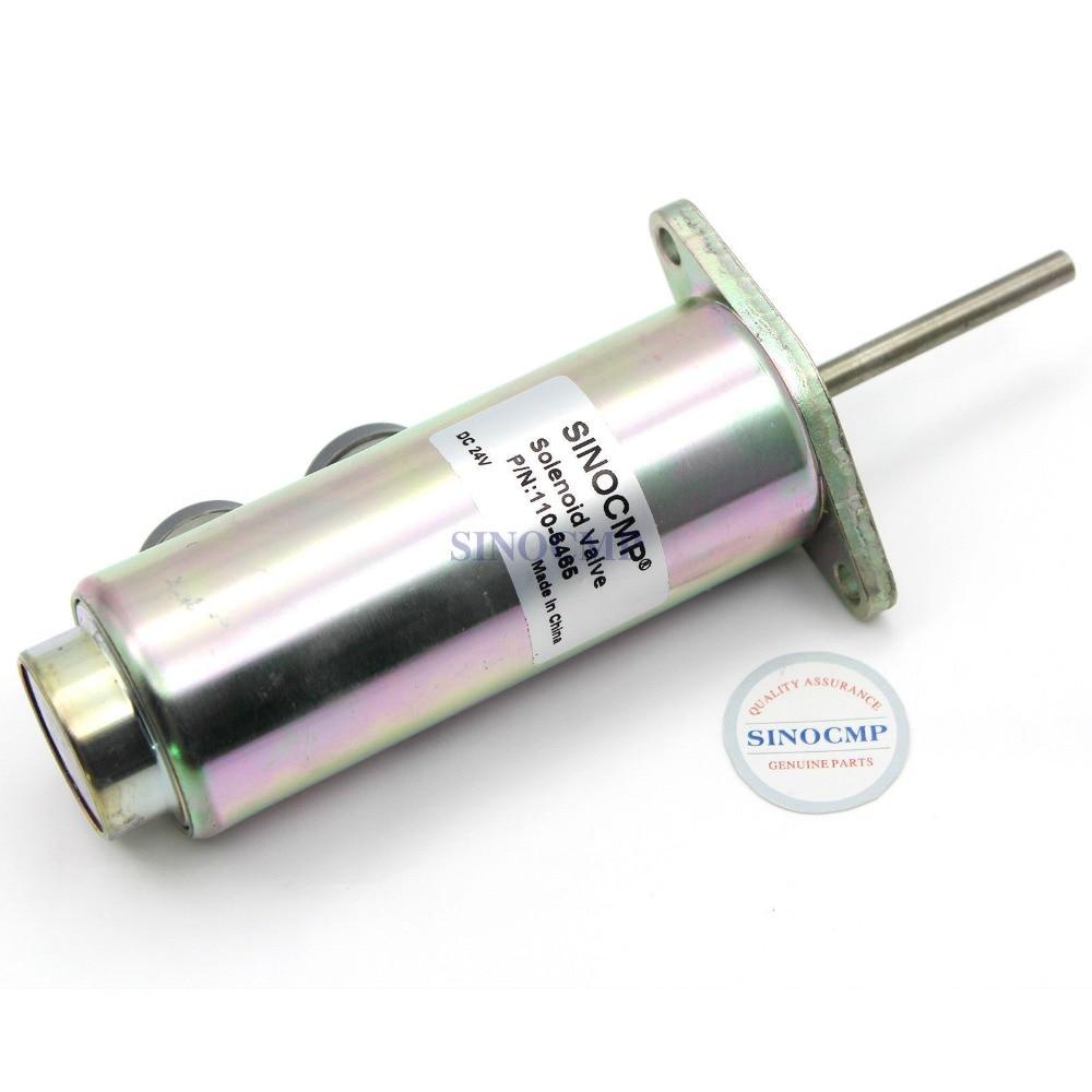12V Fuel Shutdown Solenoid Valve 110-6466 1106466 For Excavator, 3 month warranty цены