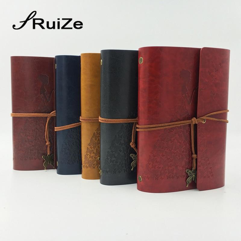 RuiZe travel journal notebook vintage lederen dagboek blanco - Notitieblokken en schrijfblokken bedrukken - Foto 2