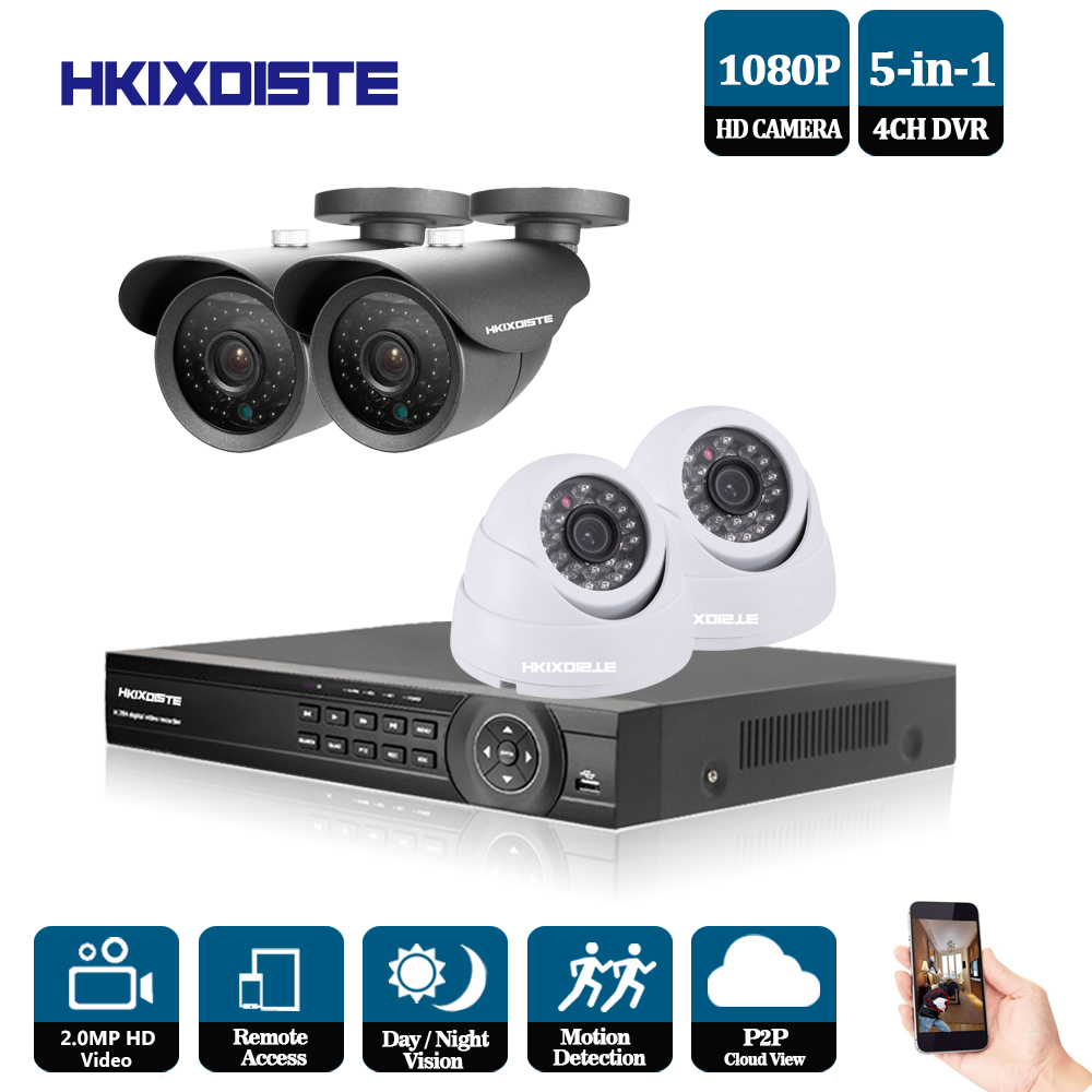 4CH CCTV System 1080P HDMI Output Video Surveillance DVR KIT with 4PCS 3000TVL 1080P indoor outdoor Home Security Camera System bosch tassimo suny tas3202