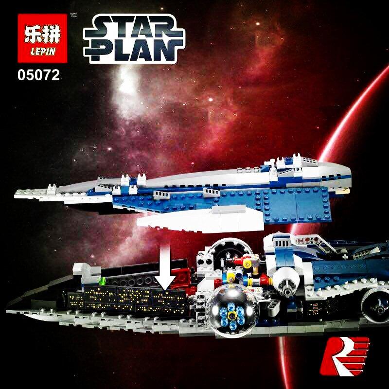 Lepin 05072 1192Pcs Star War Series The Limited Edition Malevolence Warship Set Children Building Blocks Bricks Toys