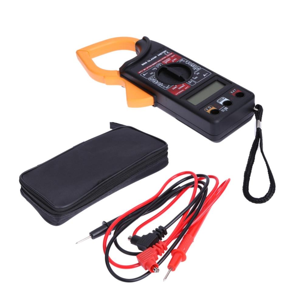 Medidor de voltímetro Digital amperímetro ohmetro multímetro voltímetro AC DC probador de pinza medidor Digital medidor de prueba de plomo