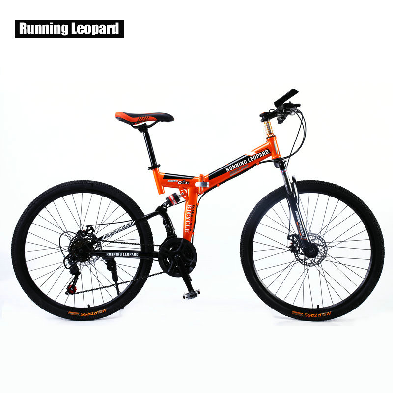Running Leopard 26 inch 21 speed bicycle front and rear shock absorber mountain bike cross country Running Leopard 26 inch 21 speed bicycle front and rear shock absorber mountain bike cross country bicycle student bmx