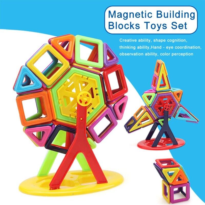 113Pcs Magnetic Building Blocks Tiles Educational Toy for Baby Kids DIY Gift New-m15 детское лего brand new oem e diy abs diy educational toy brick building blocks