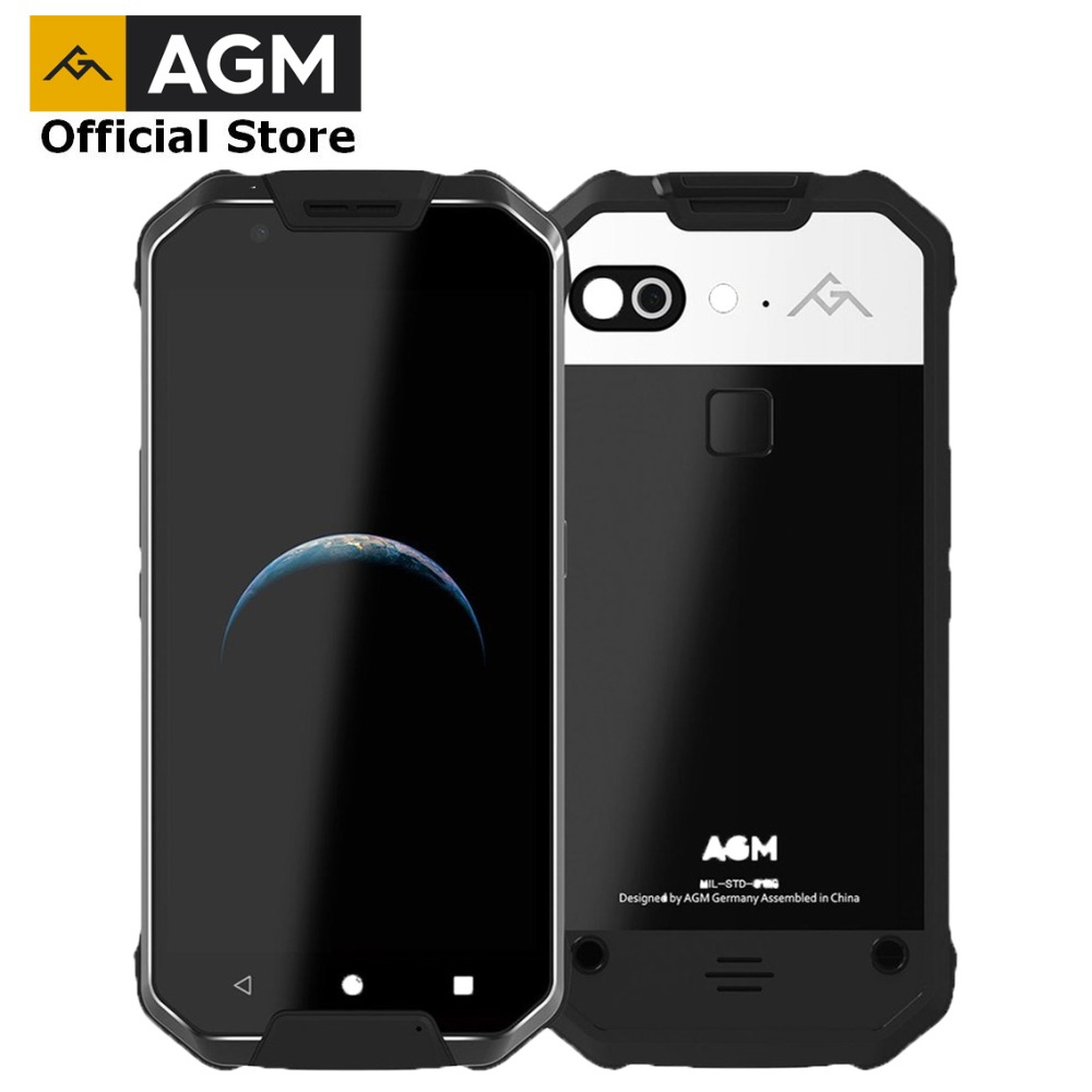 OFFICIAL AGM X2 5.5 4G Android 7.1 Mobile Phone 6G+64G/128GB Smartphone Octa Core 6000mAh IP68 Waterproof Outdoor 1080P VOC