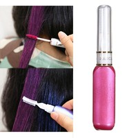 7Pc Set One Time Temporary Hair Dye Styling Cream Girls Disposable Coloring Gradient Hair Comb Pen