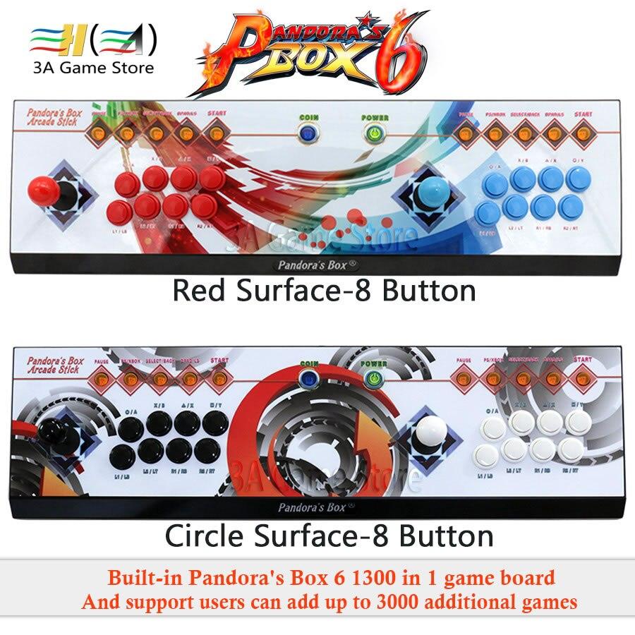 3A Jeu Société D'origine Boîte de Pandore 6 1300 dans 1 8 bouton arcade console usb joystick contrôle arcade vidéo contrôleur de jeu