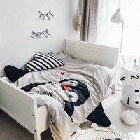 Cotton Bedspread Cartoon penguin rabbit print Throws quilt summer thin Comforter stiching Duvet Quilt Filling