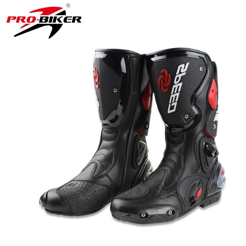 Pro-biker Speed Bikers Moto Stivali Moto Racing Motocross Off-road Moto Scarpe Nero/bianco/rosso Taglia 40/41/42/43/44/45