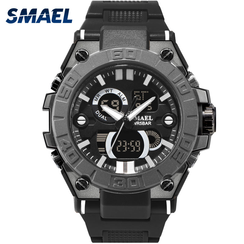 NEW Wrist Watch For Men Black Waterproof 50M Shock Resitant Digital Watch Men Military C ...