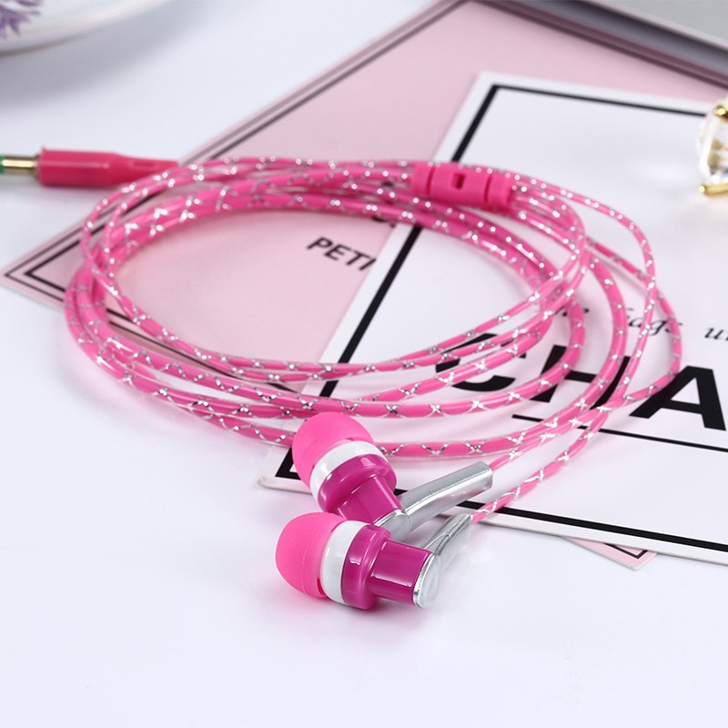 3.5mm In-Ear Stereo Earbuds Braided Rope Line Wired Earplugs Earphone Headset Mic For Mobile Phone MP3 Computer K5 original mrice e300 3 5mm jack in ear earphone earbuds computer tablet phone universal headset earbuds in stock
