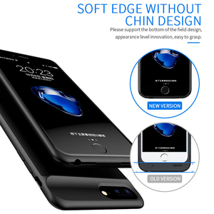Image 4 - Batterij Case Voor Iphone X Xs Zachte Dunne Powerbank Case Voor Iphone 6 7 8 6S Plus Power Bank batterij Oplader Case Cover Voor Iphone