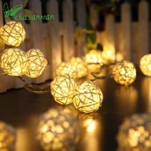 Chasanwan Sepak Takraw String Lights 1 M 10 Light Battery Box Garland LED New Year Christmas Decorations for Home Decor K