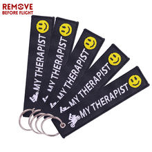 5PCS Motorcycle Key Chains Remove Before Flight Embroidery Keychain Ring Tags for Motor Bikers Gifts Jewelry llavero