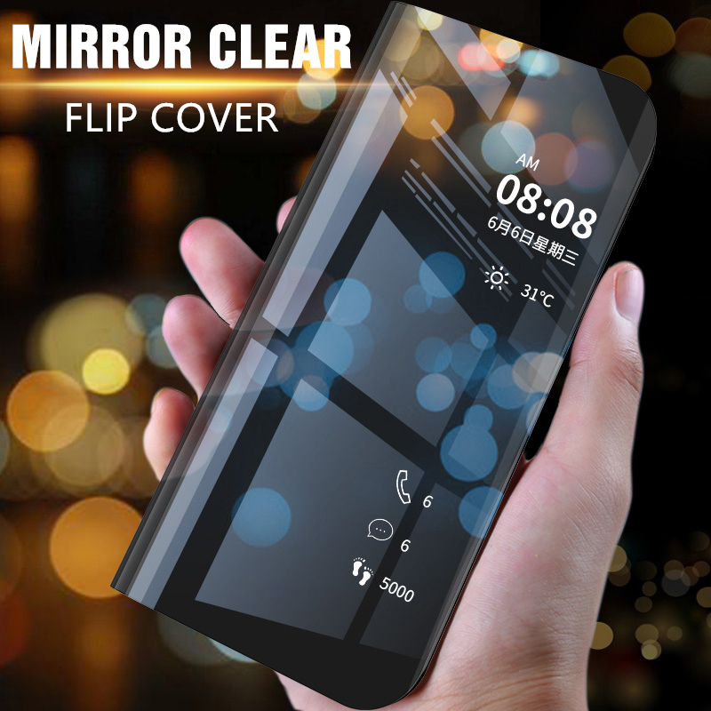 Mirror Flip Case For Samsung Galaxy S9 S8 S7 Edge Plus Clear View Cover For Samsung Note 9 8 A3 A5 A7 J5 J7 2017 A6 A8 2018 Case