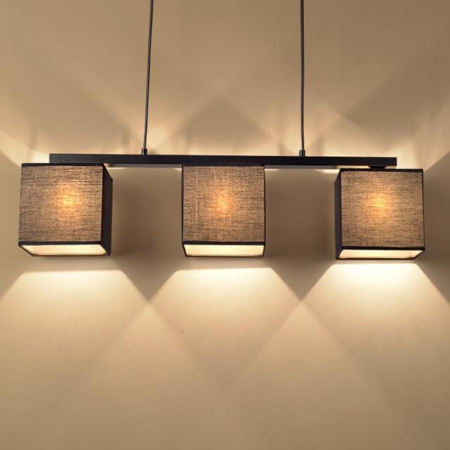 Chinese doek hanger lampen moderne compact eettafel lamp dining drie nordic creatieve - Esstischlampe modern ...