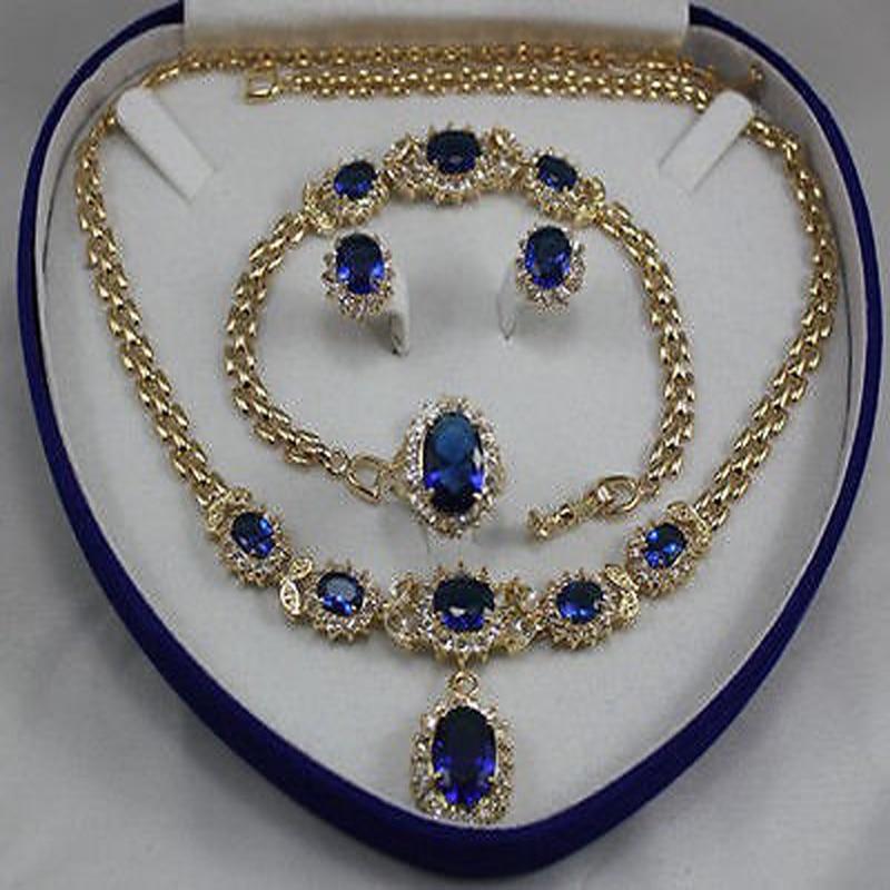 women's jewelry yellow Earring Bracelet Necklace Ring +no box-sadasd new women s fashion white necklace bracelet earring ring no box aa565