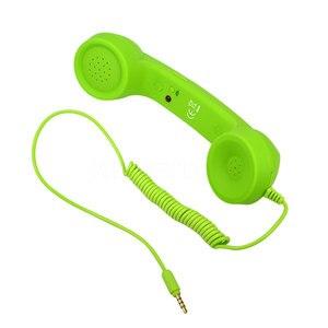 Image 3 - Kebidumei 3.5 ミリメートルレトロ電話ハンドセット放射線防止の調整可能なトーン携帯電話受信機マイク Earphon iphone