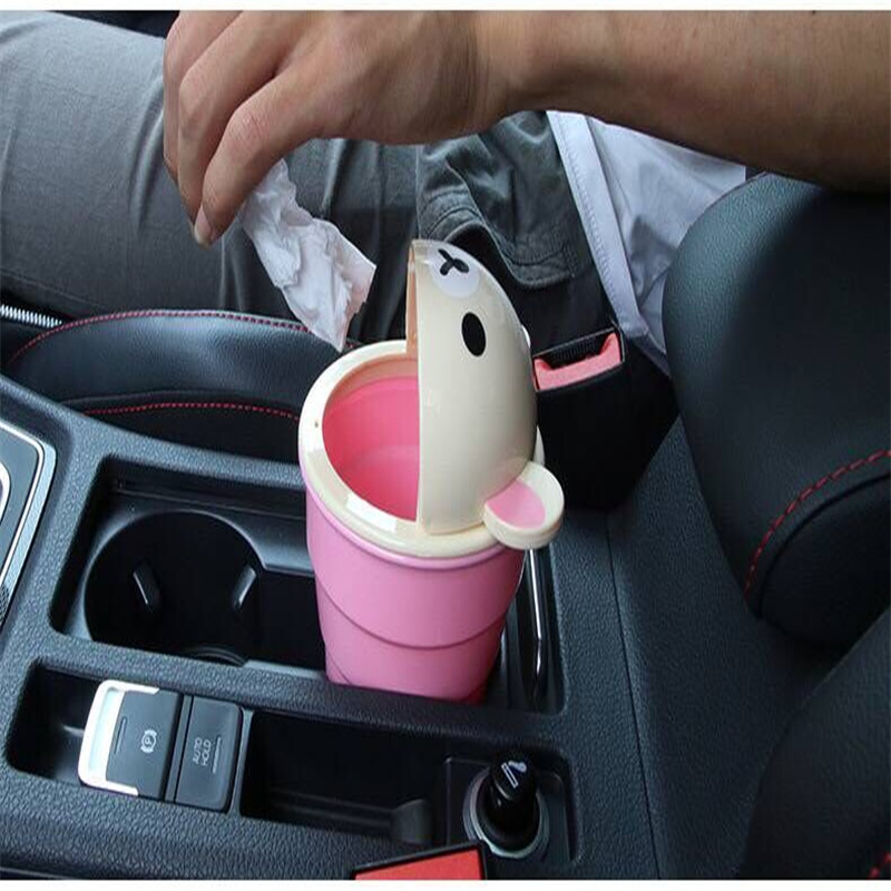 Car-styling Hot selling Car Garbage Can Car Trash Can Garbage Dust Case Holder Bin
