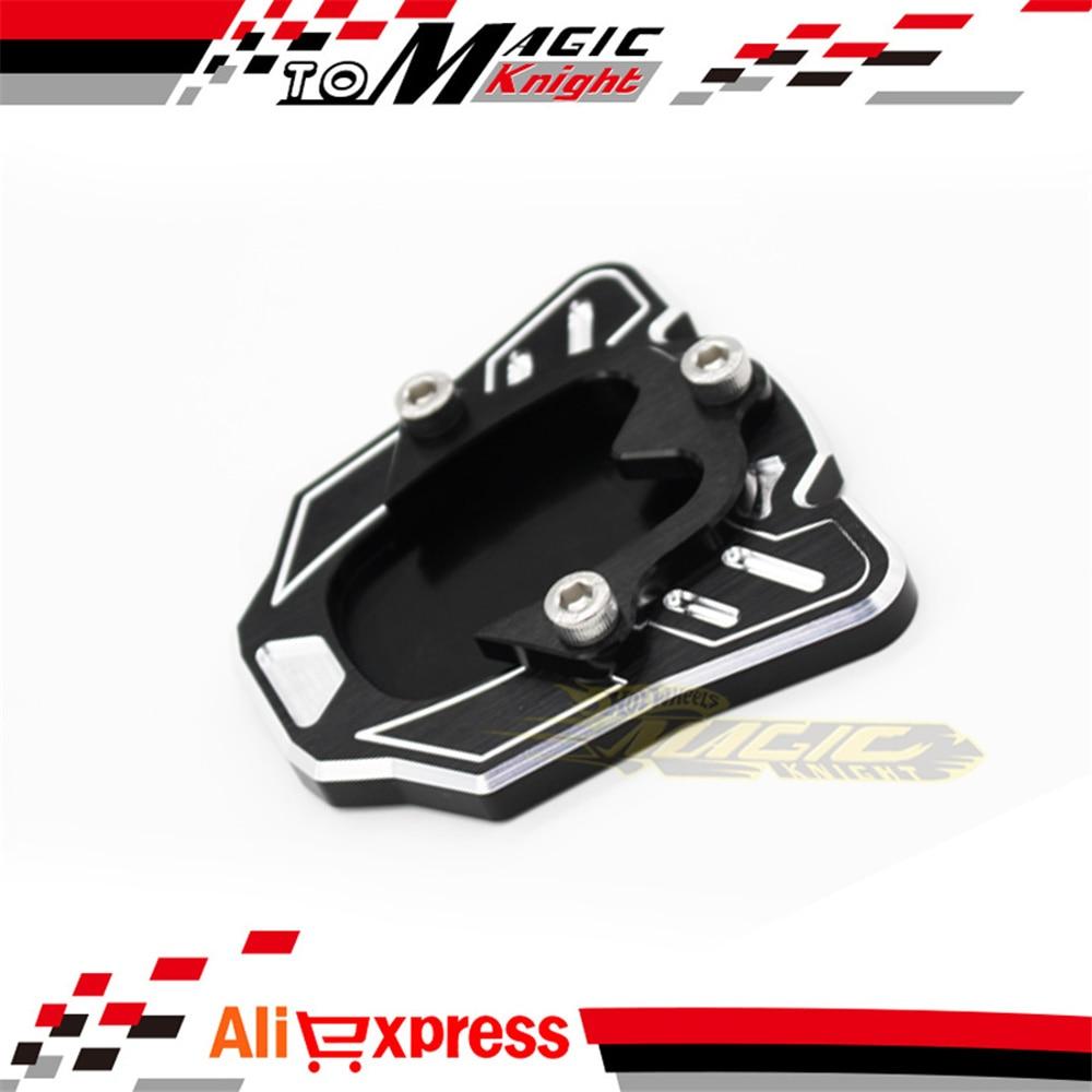 Accesorios de la motocicleta CNC Side pata de cabra soporte placa de extensión p