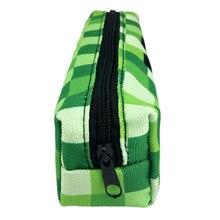 Игровой MC пенал зеленый мультяшный милый холщовый Пенал подарок на день рождения детское портмоне Длинный кошелек для девочек косметичка