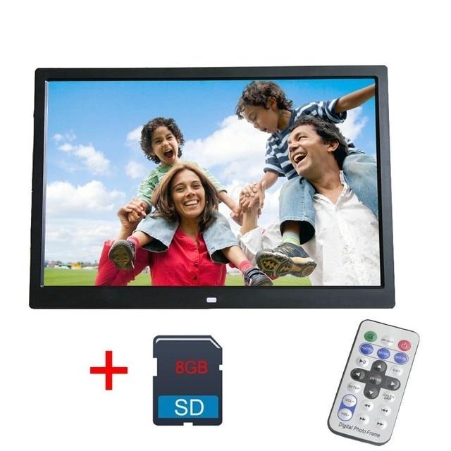 Big Sale 12 Inch Digital Photo Frame 8GB LED Backlight High-Definition 1280 X 800 Electronic Album Picture Music Video digitale fotolijst