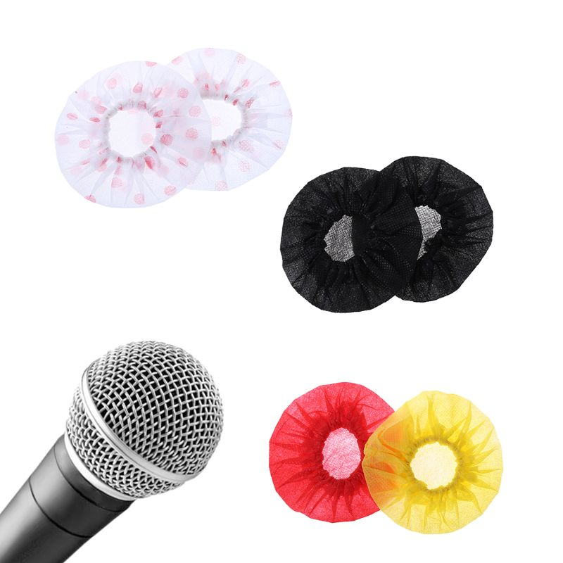 50Pair Disposable Non-woven Microphone Cover Removal Windscreen Protective Mic Cap Pad For KTV Karaoke Supplies
