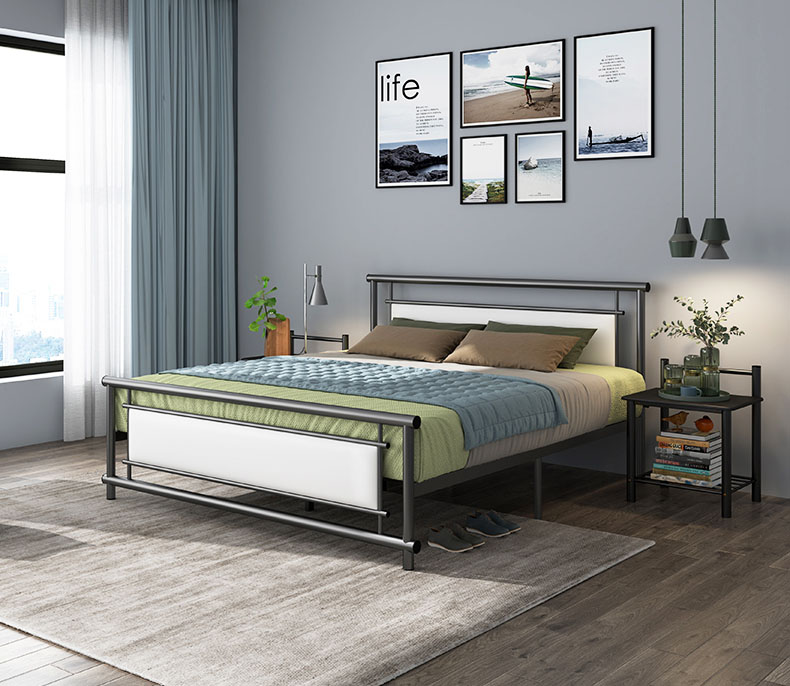 RAMA DYMASTY metal bed iron bed modern design bed/ fashion king/queen/single size bedroom furnitureRAMA DYMASTY metal bed iron bed modern design bed/ fashion king/queen/single size bedroom furniture