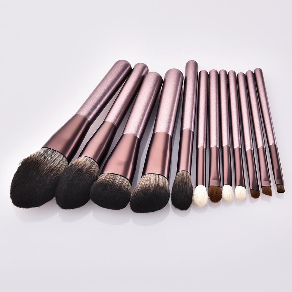 12pcs makeup brushes Soft Concealer Make Up Brush Set Champagne Handle Powder Blush Travel Maquiagem Pincel brochas maquillaje