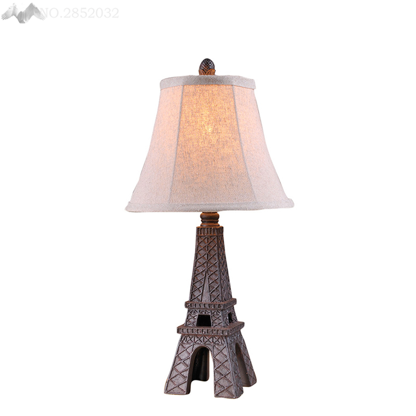 Jweuropean retro creative eiffel tower table lamp resin cloth desk jweuropean retro creative eiffel tower table lamp resin cloth desk light bedroom bedside lamp living bar room indoor decoration in desk lamps from lights aloadofball Images