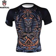 Martial wholesale Scorpio printed dri fit shirts for men sport bjj trainning shirt boxing fitness clothing sport jersey