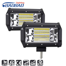 цена на BAOBAO Car 36W LED Square Work Lamp Light Bar 12V Spot Flood 24V 6000K Led Bar For SUV Offroad ATV Jeep Driving Lights