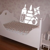 Baby food baby bottles ball pyramid Room Stylish Wall Art Sticker Decal